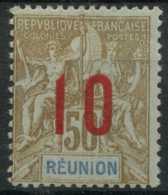 Reunion N 78A (charniere) (Chiffres Espaces Signe) - Réunion (1852-1975)
