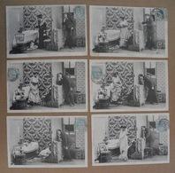 """Bergeret 163-GRIVOISE 6 Cpa - Série""""L'indiscret (Voyeur)"""" - Voy 1905 ==>Sandillon Loiret - Women"""