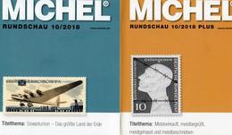 Rundschau Briefmarken MICHEL 10/2018 Sowie 10/2018-plus Neu 12€ Stamps Bf The World Catalogue / Magacine Of Germany - Fachliteratur