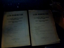 2 Revues Militaria Document La  Xvl Eme Region Militaire De La Preparation  Et Instruction Des Cadres Militaires 1931/32 - Livres, Revues & Catalogues