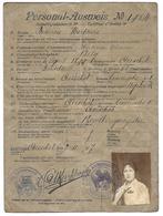 Personal Ausweis Aerschot Aarschot 1917 Guerre 14-18 - Historical Documents