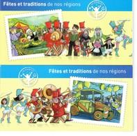 CARNETS (2) FÊTES ET TRADITIONS DE NOS REGIONS. 2011 VOIR DESCRIPTION ET SCANS RECTO/VERSO - Altri