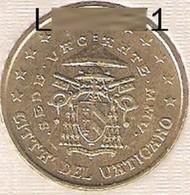 Neuve Rare Pièce De 50 Cent Euros Bu Officiel Vatican Sede Vacante Année 2005 Unc 100% Neuve Issue Du Bu Siège Vacant 60 - Vatican