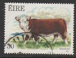 Ireland 1987 Irish Cattle 30 P Multicoloured SW 636 O Used - 1949-... Republic Of Ireland