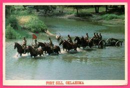 Oklahoma - Fort Sill - Water Crossing - Chevaux - Half Section - Oblit. ALWAYS USE CODE Sur BLANCHE STUART SCOTT PILOT - Etats-Unis