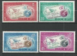 """Laos YT 142 à 145 """" Lettre écrite """" 1966 Neuf** - Laos"""