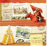 CARNETS (2) CHÂTEAUX ET DEMEURES HISTORIQUES DE NOS REGIONS. 2012 VOIR DESCRIPTION ET SCANS RECTO/VERSO - Autres