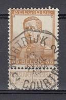 113 Gestempeld (octogonaal) KORTRIJK - COURTRAI 2 - 1912 Pellens