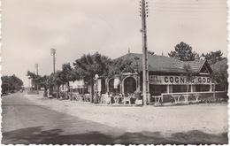 CPSM : Claouey , Grand Café Sur La Route De Bordeaux - France