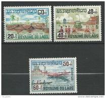 """Laos YT 146 à 148 """" Profit Des Inondés """" 1967 Neuf** - Laos"""