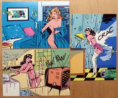Albert LINGOT    : Lot De 3 Cartes Postales - EROTISME - 1984 - Bandes Dessinées