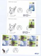 Faroe Islands; 2005 The Faroese Hare;  Set Of 2 And Booklet Pane On FDC - Faroe Islands