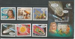 CENTRAFRIQUE  Scott 779-784, 785 Yvert 714-717, PA336-PA337, BF82 ** 6+bloc) Cote 23,40 $ 1985 - Centrafricaine (République)