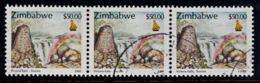 A0105 ZIMBABWE 2000, SG 1020 $50 Victoria Falls,  Cancelled Strip Of 3 - Zimbabwe (1980-...)