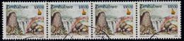 A0221 ZIMBABWE 2000, SG 1020 $50 Victoria Falls,  Cancelled Strip Of 4 - Zimbabwe (1980-...)