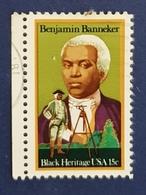 1980 Black Heritage, Benjamin Banneker,  United States Of America, USA, Used - Etats-Unis