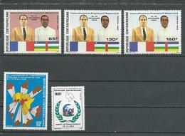 CENTRAFRIQUE  Scott 769-770, 770A, 811, 831 Yvert 696-697, 730, 742, 743 ** (5) Cote 7,55 $ 1985-6 - Centrafricaine (République)