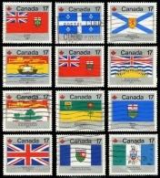 Canada (Scott No. 821-32 - Drapeaux Provinciaux / Provencial Flags) (o) - 1952-.... Règne D'Elizabeth II
