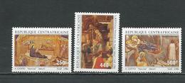 CENTRAFRIQUE  Scott C323-C325 Yvert PA350-PA352 ** (3) Cote 12,00 $ 1986 - Centrafricaine (République)