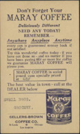 """USA (1927) Can Of Coffee. One Cent Postal Card (used) With Advertising.  """"Sellers-Brown Coffee Company."""" - Food"""