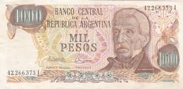 MIL PESOS GRAL SAN MARTIN ARGENTINA CIRCA 1977s-BILLETE BANKNOTE BILLET NOTA-BLEUP - Argentina