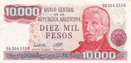 DIEZ MIL PESOS GRAL SAN MARTIN ARGENTINA CIRCA 1977s-BILLETE BANKNOTE BILLET NOTA-BLEUP - Argentinië