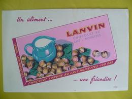 Buvard Chocolat LANVIN - Buvards, Protège-cahiers Illustrés