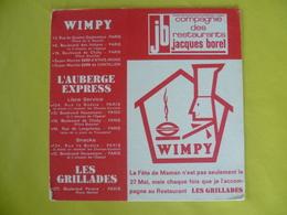 Buvard Compagnie Des Restaurant Jacques BOREL - Buvards, Protège-cahiers Illustrés