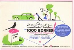 Buvard Illustrateur Jeu De Société  Voiture Route Dujadrin Arcachon 1000 Bornes - Blotters