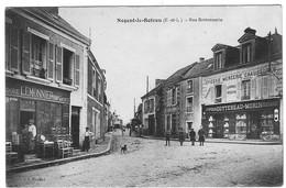 28 EURE Et LOIR La Rue Bretonnerie Animée à NOGENT Le ROTROU Meubles Lemonnier Epicerie Cottereau - Nogent Le Rotrou