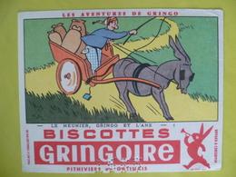 Buvard  Biscottes GRINGOIRE - Buvards, Protège-cahiers Illustrés