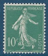 FRANCE 1921-22 - Y.T. N°159 - 10 C. Vert - Type Semeuse Fond Plein - Neuf** - TTB Etat - 1906-38 Semeuse Con Cameo