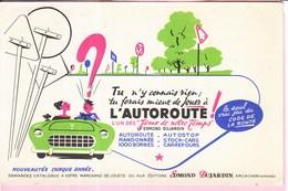 Buvard Illustrateur Jeu De Société  Voiture Route Dujadrin Arcachon Autoroute - Blotters