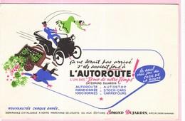 Buvard Illustrateur Jeu De Société  Voiture Route Dujadrin Arcachon Autoroute - Buvards, Protège-cahiers Illustrés