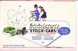 Buvard Illustrateur Jeu De Société  Voiture Route Dujadrin Arcachon Autoroutstock-cars - Buvards, Protège-cahiers Illustrés