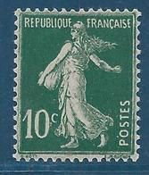 FRANCE 1921-22 - Y.T. N°159 - 10 C. Vert Foncé - Type Semeuse Fond Plein - Neuf** - TTB Etat - 1906-38 Semeuse Camée