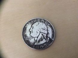 Pièce ONE DOLLAR «LIBERTY - UNITED STATES OF AMERICA 1865» Belle Reproduction - 1840-1873: Seated Liberty (Libertà Seduta)