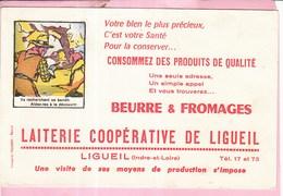 Buvard Laiterie Beurre Fromage Coopérative Ligueil - Dairy