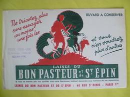 Buvard  Laines Du Bon Pasteur Et De Saint épin  A Paris - Buvards, Protège-cahiers Illustrés