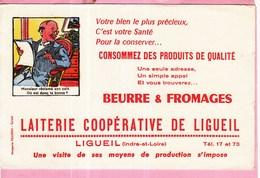 Buvard Laiterie Beurre Fromage Coopérative Ligueil - Produits Laitiers