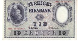 Sweden P.40 10 Kronor 1952 Unc - Svezia