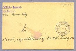 Österreich-Ungarn 1916 K.u.k. Etappenpostamt Belgrad Beograd Srbija Feldpost Part Of Cover Postmark - Serbia