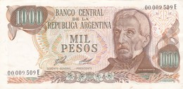 MIL PESOS GRAL SAN MARTIN ARGENTINA CIRCA 1977s-BILLETE BANKNOTE BILLET NOTA-BLEUP - Argentinië