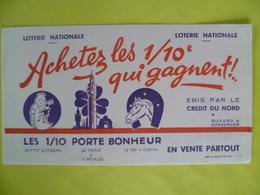 Buvard  Loterie Nationale Achetez Les 1/10° Qui Gagnent - Buvards, Protège-cahiers Illustrés