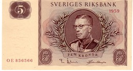 Sweden P.42 5 Kronor 1959  Unc - Svezia