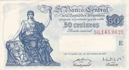 CINCUENTA CENTAVOS ARGENTINA CIRCA 1890s-BILLETE BANKNOTE BILLET NOTA-BLEUP - Argentinië