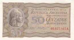 CINCUENTA CENTAVOS ARGENTINA CIRCA 1947s-BILLETE BANKNOTE BILLET NOTA-BLEUP - Argentinië