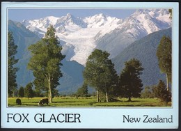 New Zealand Fox Glacier 1993 / Mountains, Cows - New Zealand