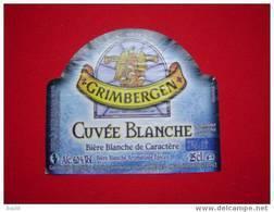 ETIQUETTE BIERE GRIMBERGEN BLANCHE / BELGIQUE - Beer