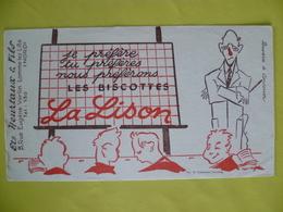 Buvard  Les Biscottes La LISON Ets: Heurtaux A Lomme Lez Lille - Buvards, Protège-cahiers Illustrés